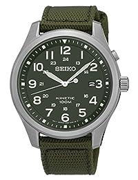 Seiko Men's SKA725 Nylon Strap Kinetic Dress Wrist Watch