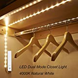 Amagle Flexible 3.28ft 4000K Natural White Dual Mode LED Strip Light, Motion Sensor Activated, Lighting for Kitchen, Drawer, Stairs