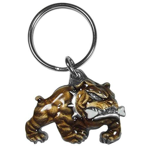 Siskiyou Automotive KR155E Metal Key Chain (Bulldog with A Bone Enameled - Bull Keychain Metal