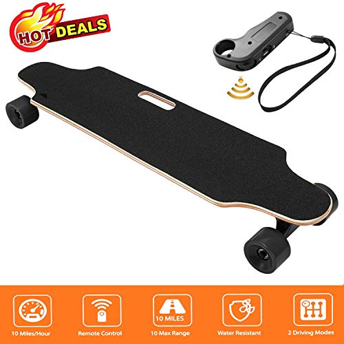 35.4″ Electric Skateboard Electronic Longboard 20 KM/H Top Speed, 250W Motor,7 Layers Maple E Skateboard with Wireless Remote Control Electirc Board for Adult Kids teens,220lbs Weight Capacity