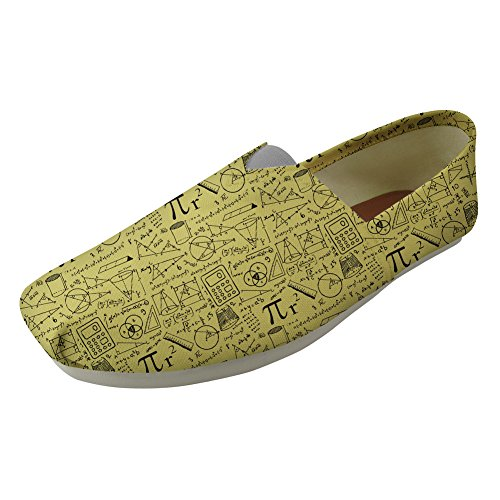 Shoes Sneaker Memory Classic Womens Canvas Slip Lazy Flats Shoes on Outdoor Foam Pattern Math Coloranimal qv8xaw1