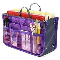Superbpag Bolso organizador de viaje de viaje para mujer Organizador de monedero Tidy Bag Purple