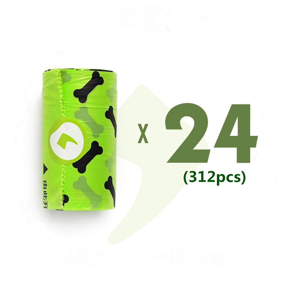 B-312pcs Degradable Pet Poop Bag Biodegradable Environmentally Friendly Portable Garbage Bag, Compostable Dog Poop Bags Waste Bags, Extra Thick and Strong Poop Bags for Dogs, Guaranteed Leak-Proof (B-312pcs)