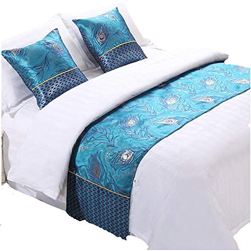 "YIH Bed Runner for Foot of Bed, Luxury Bedding Scarf Bed Decorative for Home Furniture Protector, 94"" x 19"""