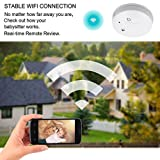 CAMXSW Upgraded Hidden Wi-Fi Smoke Detector Spy