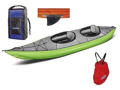 gumotex Swing 2 Verde Juego Kayak hinchable con aleta 043912 ...