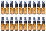Juvale Fine Mist Mini Spray Bottles Atomizer Pumps - Amber Brown Empty Glass Bottles - Reusable/Refillable Essential Oils, Travel, Perfumes, More - 20-Piece Set - 50 ml