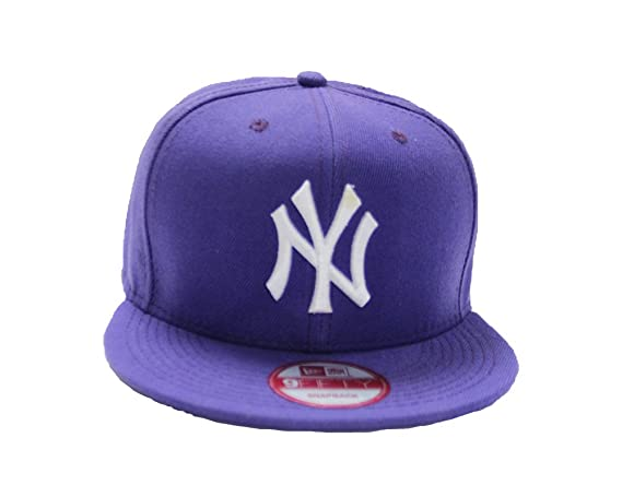 16dc49cec62 Tx Adjustable Unisex New York Yankees Cap Snapback Sport Flat Brim Hip-hop  Hat (purple)  Amazon.in  Clothing   Accessories