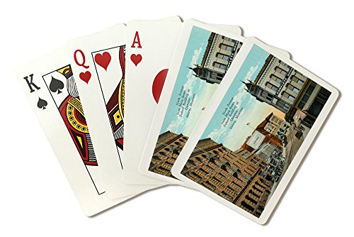 Helena  Montana   View Of Sixth Ave From Main Street  Federal Bldg In Distance  Playing Card Deck   52 Card Poker Size With Jokers