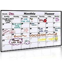 Magnetic Dry Erase Calendar for Refrigerator Monthly Planner 2019 Large Magnetic Whiteboard Calendar for Fridge to Do List Grocery List Organizer for Home Kitchen Office, Family Planner 16.9 x 11.8