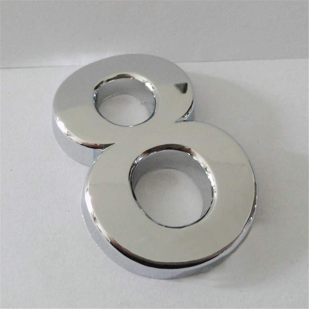 JJ.Accessory marr/ón Placa para n/úmero de casa 7 mm, aleaci/ón de zinc Number 2