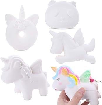 Amazon.com: LEEHUR 4 piezas de bricolaje de animales blancos ...