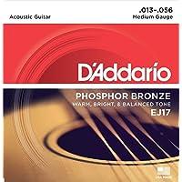 Cuerdas para guitarra acústica D'Addario Phosphor Bronze, medianas, 13-56 EJ17