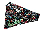 dog bandana sewing pattern - Very Vintage Design Dog Bandana Preppy Birthday Plaid Balck Personalized Name Embroidered Cat Adjustable Happy Birthday Balloons Party Triangle Scarf Bow Ties