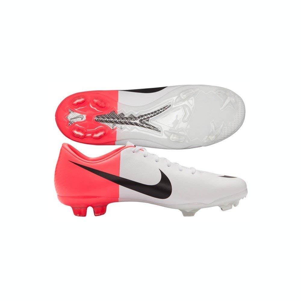 White//Solar Red//Black Nike Junior Mercurial Vapor V III FG