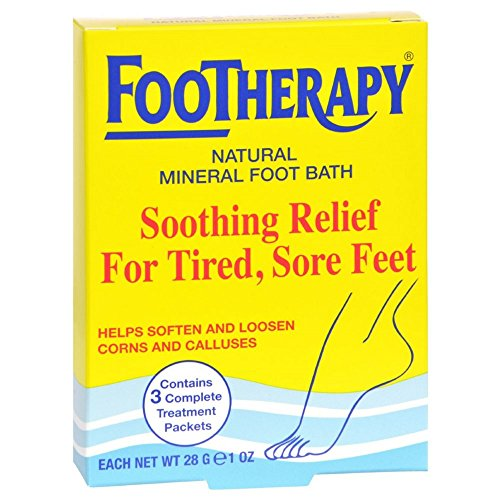 FooTherapy Natural Mineral Foot Bath, Soothing Relief For Tired, Sore Feet, 3 packets (Pack of 12)