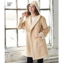 Simplicity Pattern 8467 Misses' Coat or Jacket with Neckline Variations (SIZE 6-14) SEWING PATTERN