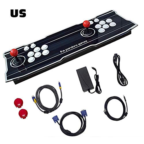 Dailyfun Arcade Games Console 1388 Classic Games 6 Joystick Game Console Double Players Arcade Console Support HDMI & VGA & USB Output Monitor/Projector/PC/Laptop