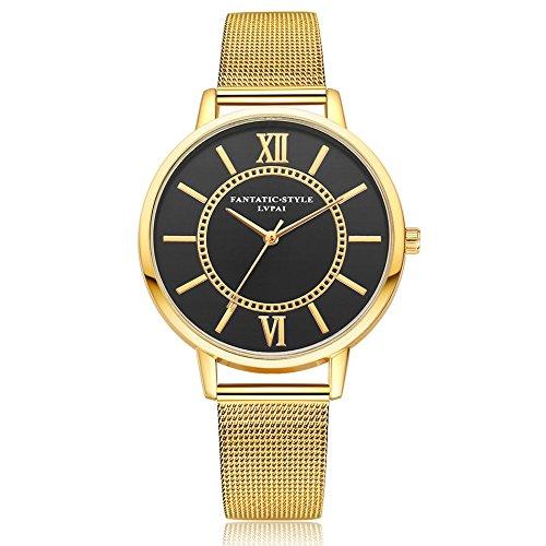 Delaman Reloj Cuarzo - Lvpai Reloj Pulsera Mujer, Caja Dial Analógica Redonda, Estilo Clásico