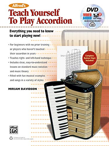 Alfreds Teach Yourself to Play Accordion: Everything You Need to Know to Start Playing Now!, Book, DVD & Online Video/Audio/Software (Teach Yourself Series)
