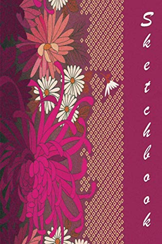 Sketchbook: Magenta and Flowers 6×9 – BLANK JOURNAL WITH NO LINES – Journal notebook with unlined pages for drawing and…