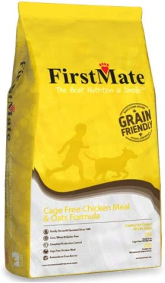 FirstMate Grain Friendly Cage Free Chicken Meal & Oats Formula Dog Food 25 Lbs