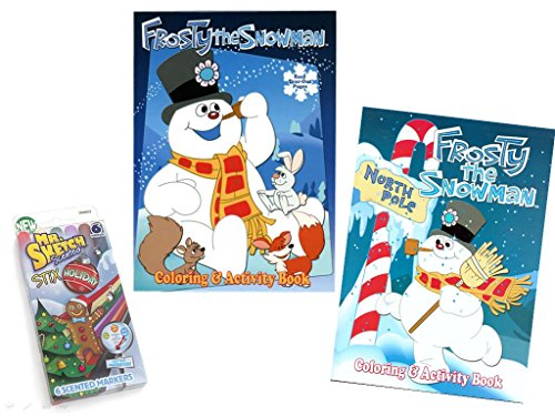Mr. Sketch Stix Scented Holiday Markers with 2 Frosty the Snowman Coloring/Activity - Mr Gosling
