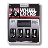 Gorilla Automotive 71621NBC Acorn Black Chrome Wheel Locks (12mm X 1.25 Thread Size)-Pack of 4