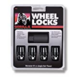Gorilla Automotive 71631NBC Acorn Black Chrome Wheel Locks (12mm x 1.50 Thread Size) Pack of 4