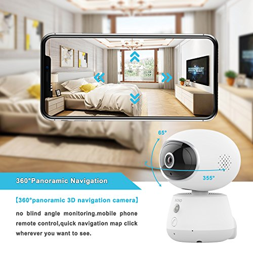 Pet Monitor Camera, Bioxo 1080P HD 2.4G Wireless IP Camera, Night Vision Camera for Dog/Cat/Baby Monitor Home Security Camera
