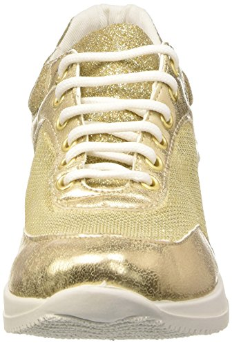North Star 5498232, Sandalias con Plataforma para Mujer Dorado (Oro)