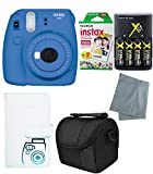 Fujifilm Instax Mini 9 Instant Camera – 6 Pack Camera Bundle Blue