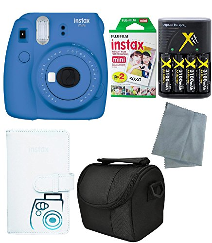 Fujifilm Instax Mini 9 Instant Camera – 6 Pack Camera Bundle Blue (Large Image)