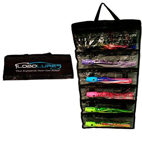 Lobo Lures 6 Pocket Big Game Trolling Lures Roll-up Storage Tackle Bag ()