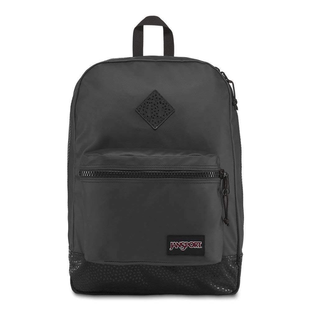 JanSport Super FX Backpack - Trendy School Pack With A Unique Textured Surface | Black Stone Iridescent