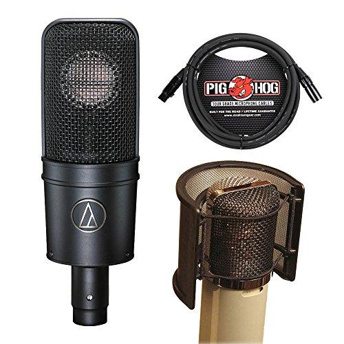 Studio Condenser Cardioid Microphone At4040 (Audio Technica AT-4040 Microphone With Popguard & 10' Microphone Cable Bundle)