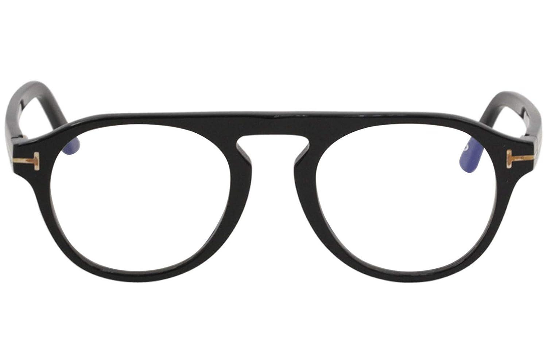 Nero Lucido Tom Ford FT5533-B Occhiali da Sole, 49.0 Unisex-Adulto
