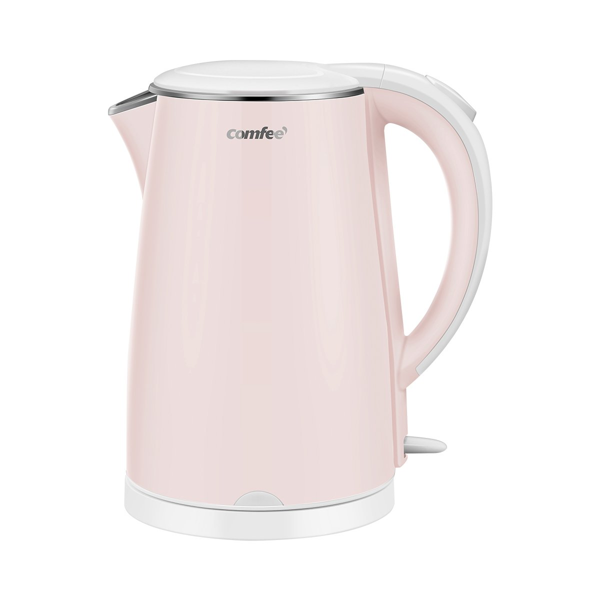 COMFEE' MK-HJ1705a1 Electric Kettle Teapot 1.7 Liter Fast Water Heater Boiler 1500W BPA-Free, Quiet Boil & Cool Touch Series, Auto Shut-Off and Boil Dry Protection, 1.7L, Baby Pink by COMFEE' (Image #2)