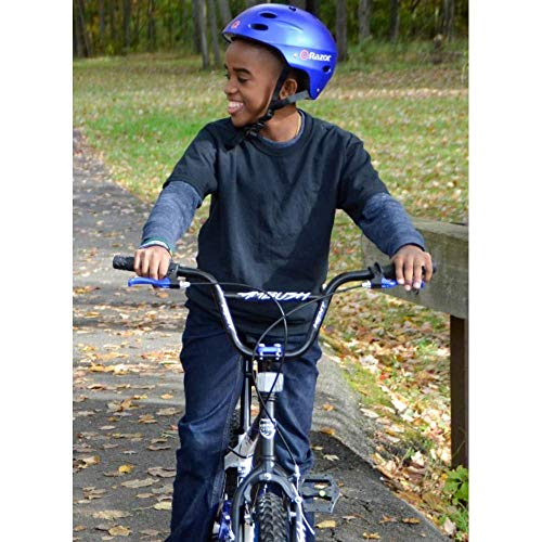 *KENT Bundle - 20'' Boys', Ambush BMX Bike, Blue with Multi-Sport Helmet and Protective Pad Set, Black, Ages 8-14 by *KENT (Image #1)