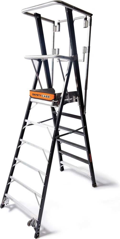 Little Giant escaleras 19606EN plataforma de seguridad jaula escalera, negro, 6 pies: Amazon.es: Bricolaje y herramientas