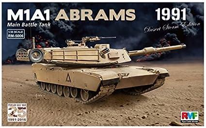 451ccf0dcd0737 Amazon.com: Rye field 1/35 US Army M1A1 Abrams Gulf War 1991 Plastic ...
