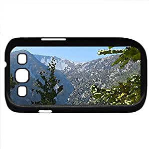 A Top of a Mountain from a Forest (Mountains Series) Watercolor style - Case Cover For Samsung Galaxy S3 i9300 (Black)