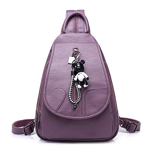 Black Purple Escolares Mochila para Cuero De Mochilas Escolar Mochila Satchel Niñas De Mochila Mochila Mujer n6OwqBnFZ