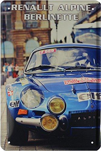 RENAULT ALPINE berlinette Rally Car Voiture Plaque de 20 x 30 Ré tro Tô le 1706 Blech