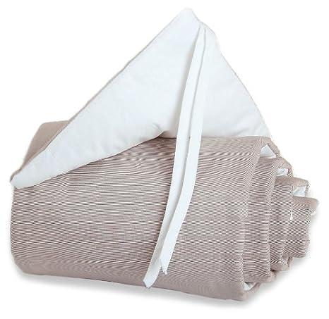 blau//wei/ß babybay Nestchen Cotton f/ür Maxi Boxspring und Comfort