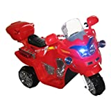 Lil' Rider Ride on Toy, 3 Wheel Motorcycle for Kids, Battery Powered Ride On Toy by Ride on Toys for Boys and Girls, 2 - 5 Year Old - Red FX