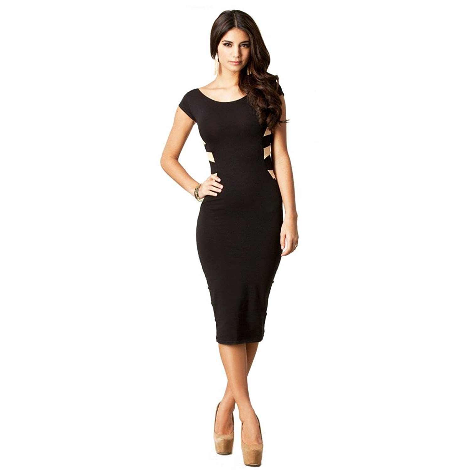 Imixcity Sexy Women Lace Short Sleeve Slim Fashion Bodycon Party Cocktail Evening Dress