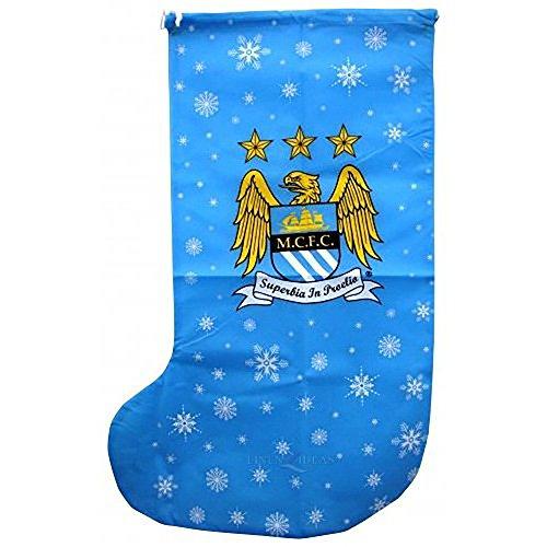 Manchester City Novelty Christmas Jumbo Present Stocking (One Size) (Sky Blue) ()