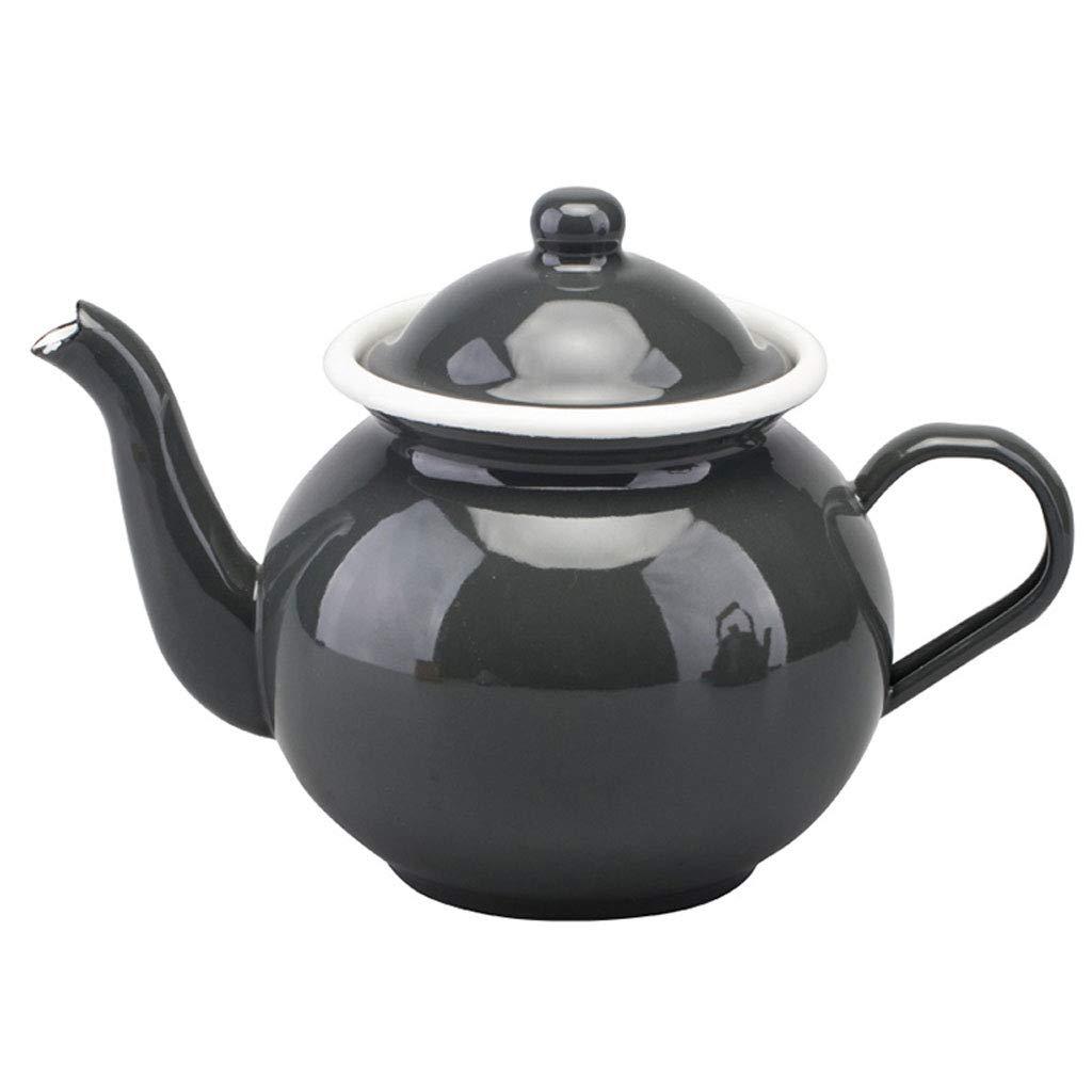 Wasserkessel Gray 1.2L Emaille Wasserkocher Induktionsherd Gas General Home Teekanne Porzellan Wasserkocher KKY KKY-ENTER