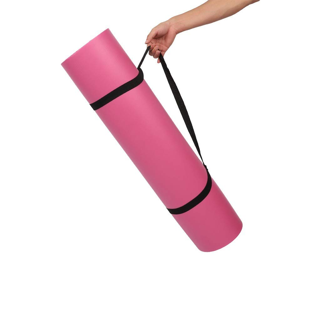 Amazon.com: Yoga Mat with Carrying Strap Package 15MM Extra ...